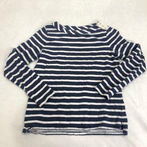Boden Striped Long-Sleeved Boatneck Top Size Med